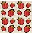 Background with red strawberries vector image