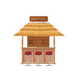 beach bar summer tropic seaside wooden house vector image vector image