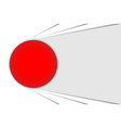 big red button gray and white abstract vector image