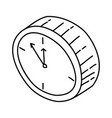 clock icon doodle hand drawn or outline icon style vector image vector image