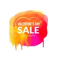 Colorful watercolor banner Valentine SALE concept vector image