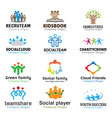 Crowds Team Business Design vector image vector image