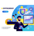 cryptocurrency vector image