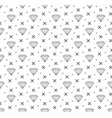 diamond seamless pattern line sketch doodle vector image vector image