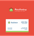 dog house logo design with business card template vector image