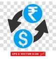 Dollar Rupee Exchange Icon vector image