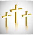 elements of good friday background vector image