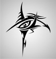 Eyes Tribal Tattoo Design vector image