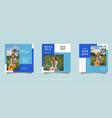 fashion social media promotion design layout vector image vector image