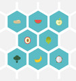 flat icons litchi praties cabbage and other vector image vector image
