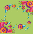 flowers floral decoration vector image vector image