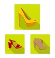 footwear and woman symbol vector image vector image