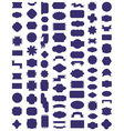 frame icons on white vector image vector image