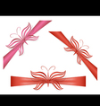 Gift ribbons with butterflies vector image vector image