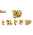 golden metal numbers realistic vector image