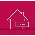 House with a sign for rent vector image