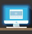 Modern personal computer with a browser vector image vector image