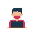 online education icon learning vector image