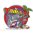 Party island vector image vector image
