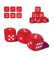 Playing dice vector image vector image