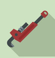 plumber key icon flat style vector image vector image