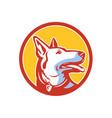 police dog circle mascot vector image vector image