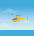 pretty yellow helicopter color vector image vector image