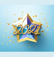 Realistic shiny 3d golden inscription 2021 happy