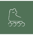 Roller skate icon drawn in chalk vector image