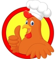 Rooster chef cartoon giving thumb up vector image vector image