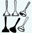 Rubber plunger vector image