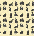 seamless pattern with rabbits design element vector image