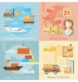 set logistics and delivery shipping concepts vector image vector image