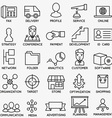 Set of seo and internet service icons - part 6 vector image vector image