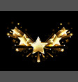 sparkling gold five stars vector image vector image