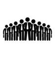 stick figure icon businessmen big company human vector image vector image