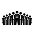stick figure icon businessmen big company human vector image