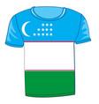 t-shirt flag uzbekistan vector image