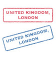 united kingdom london textile stamps vector image vector image