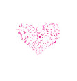 valentines day concept heart shapes red heart vector image