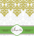 Vintage Lace And Damask Invitation vector image vector image
