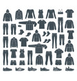 icons of clothes for sports and workouts vector image