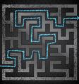 Black maze vector image