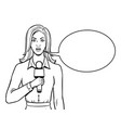 journalist with microphone coloring book vector image