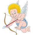 cute cartoon cupid vector image