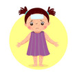 a little girl with rashes vector image