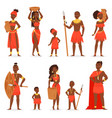 african people black man beautiful woman vector image