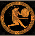 ancient greek warrior vector image