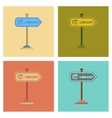 assembly flat icons sign library vector image vector image