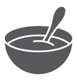 baby cereal glyph icon food and eat vector image